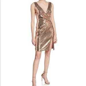 SHO Sequin Sleeveless Mini Wrap Dress. Size M. NWT